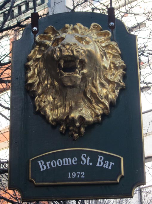 Broome Street Bar Lion