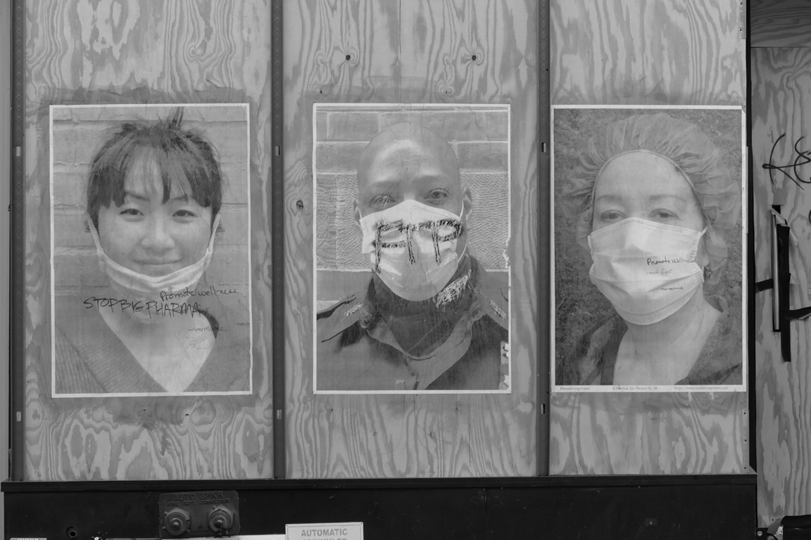 healthcare workers on plywood