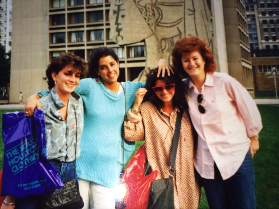 Saturday shopping excursion. Silver Towers. Autumn 1986 or 1987