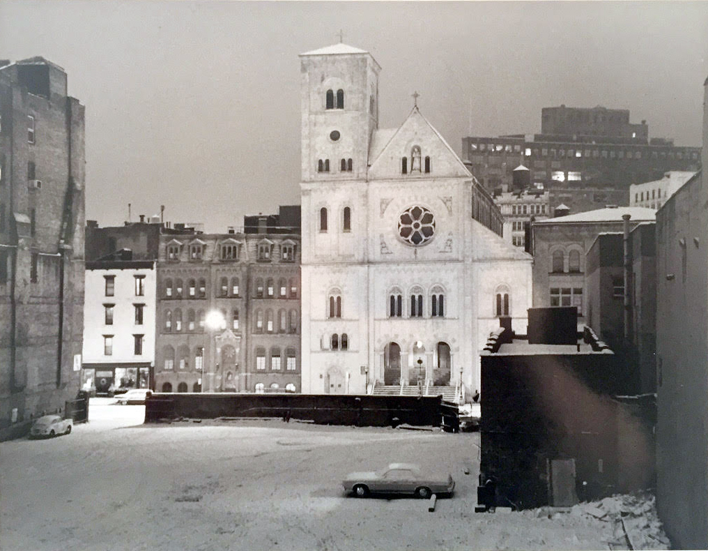 St. Alphonus photographed from 22 Wooster Street, Gene Epstein, 1979