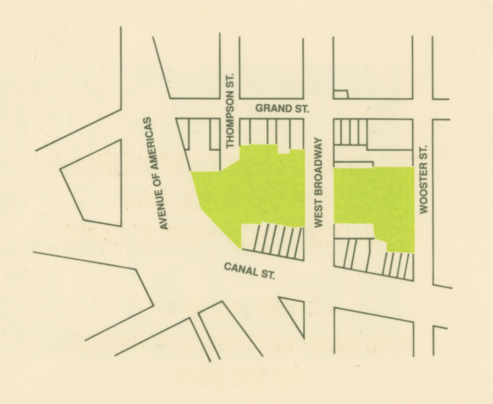 A map of the park proposed by the Grand Canal Park Group