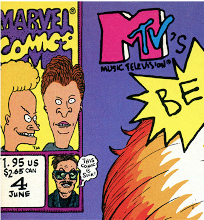 Rick makes a cameo on the cover of MTV's Beavis and Butthead Comic Book
