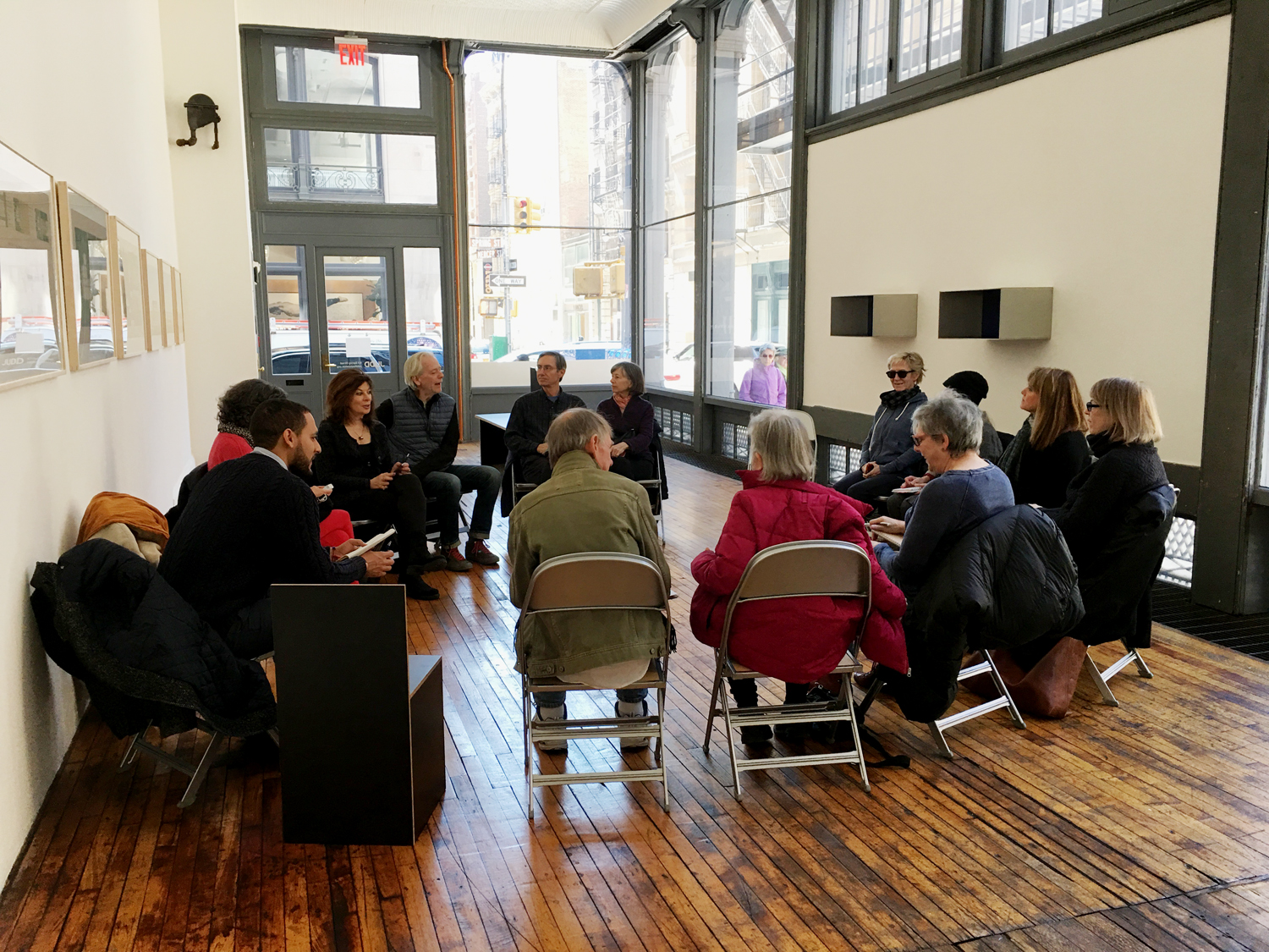 SoHo artists meet at Judd Foundation, April 1, 2019
