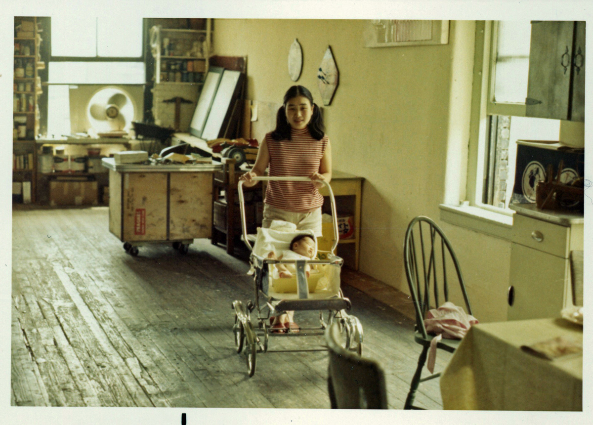 Fusako (my mom) and me in our loft at 97 Crosby Street, 1969
