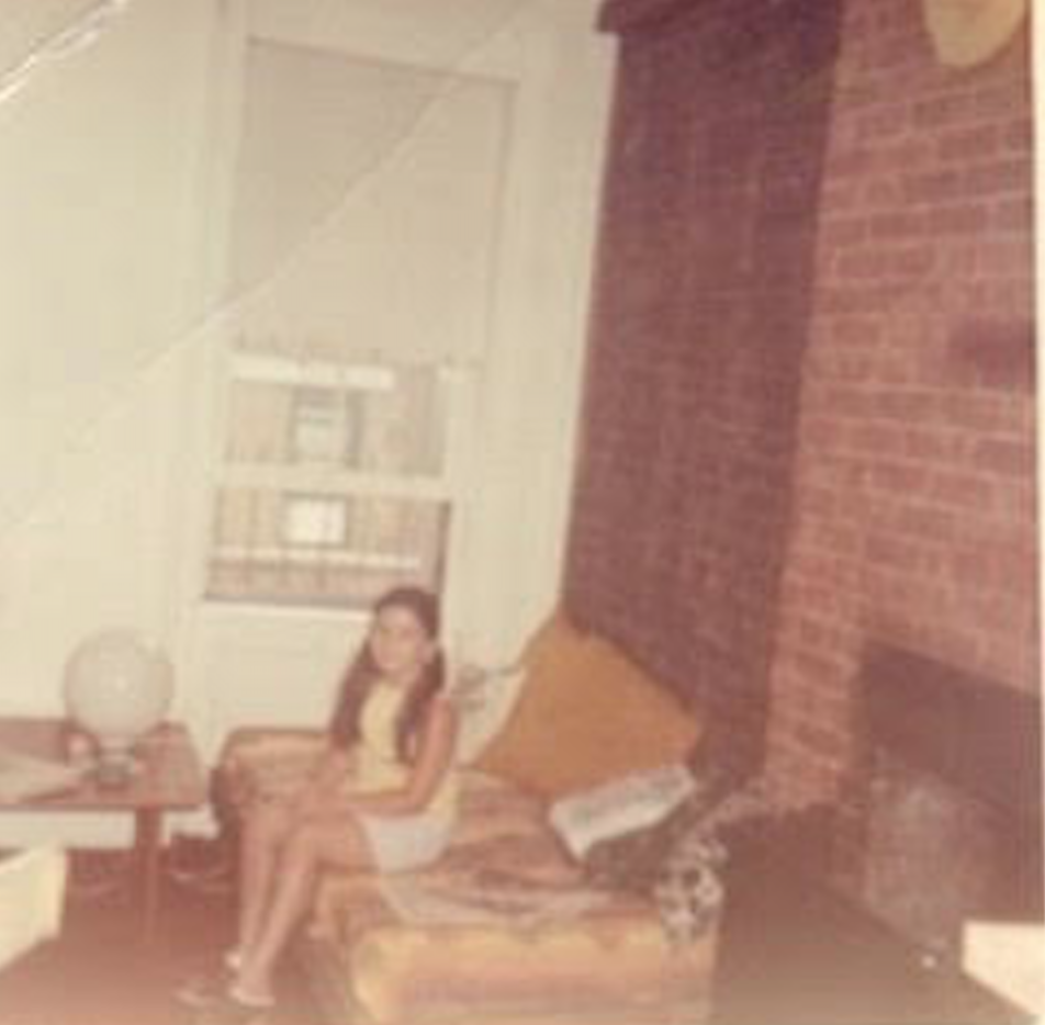 Me - Anna Kokines - in the kitchen on Thompson.  We had an Eero Saarinen table, Thonet chairs, but no money c. 1970