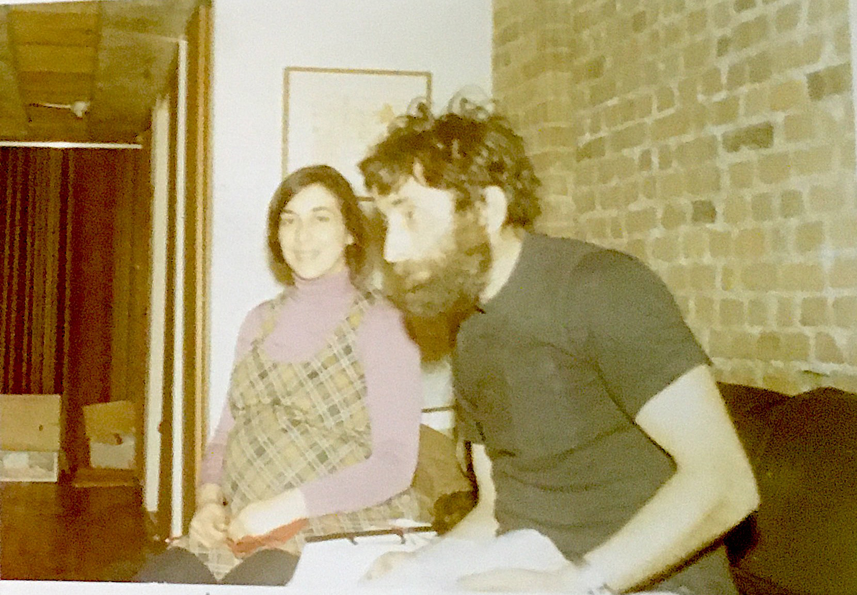 My mother, Martha Moses, pregnant with me and my father Gunther Moses in what was then their unfinished loft at 16 Greene St., 1971.