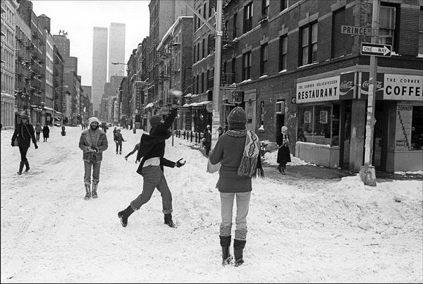 West Broadway Snowball Fight 1978
