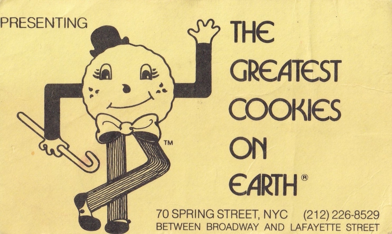 Greatest Cookies on Earth flyer