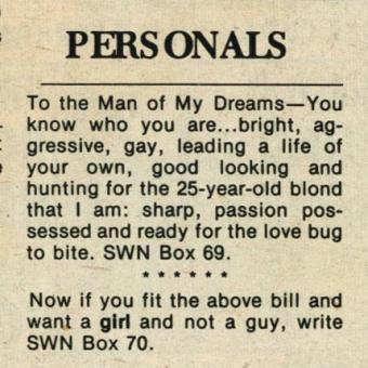 SWN personal ad